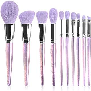 Make-upborstels, 10 sets beauty tools voor beginners een volledige set beauty tools hoogwaardige foundationkwast met krist...