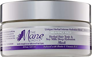 THE MANE CHOICE Heavenly Halo Herbal Hair Tonic & Soy Milk Deep Hydration Mask - Hair Treatment for Dry, Thirsty Hair In Need of Intense Hydration (8 Ounces/237 Milliliters)