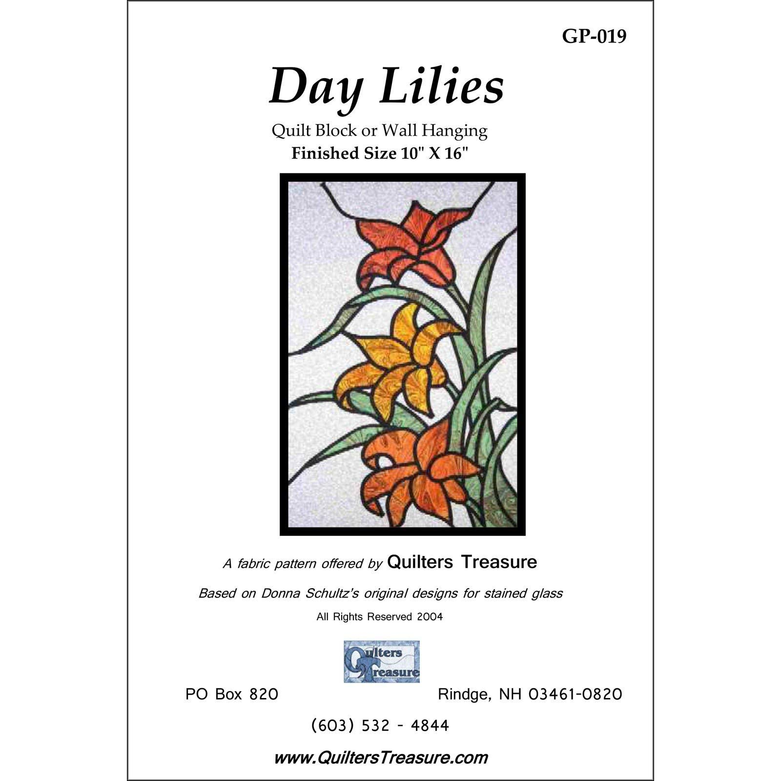 Lily Stained Glass Pattern Catalog Of Patterns