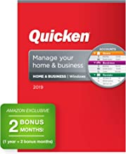 Quicken Home & Business 2019 Personal Finance & Small Business Software [PC Disc] 1-Year Subscription + 2 Bonus Months [Amazon Exclusive]