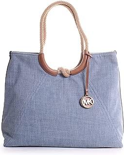 Isla Ring Shoulder Tote Bag in Washed Denim