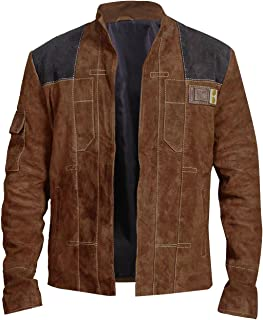 Han Solo A Star Wars Story Costume Light Brown Suede Leather Jacket