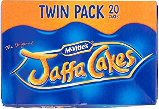 Original McVitie's The Original Jaffa Cakes Twin Pack Imported From The UK England The Very Best Original British Jaffa Cakes A Genoise Sponge Base Layer Of Orange Flavored Jam Coating Of Sponge