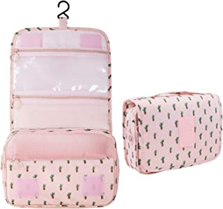 Multifunctional Portable Travel Hanging Toiletry Bag Waterproof Compact Travel Organizer Cosmetic Make Up Bag Case Beach Pouch Bathroom Storage Organizer Travel Accessories Large Essentials Organizer For Women Men Kit With Hanging Hook And Strong Zippers For Vacation