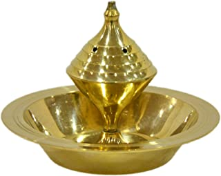 Aatm Decorative and Attractive Brass Designer Agarbatti Stand/Golden Incense Stick Holder