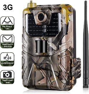 Cámara de caza 3G 2G Cámara de vigilancia de vida silvestre 16MP 1080P cámara de juego de detección nocturna con LED IR de 940 nm visión nocturna pantalla LCD de 2.0 . IP65 a prueba de agua.