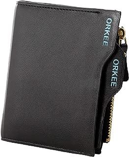 Orkee Black Premium Bifold Designer Black Vertical Wallet (Black)
