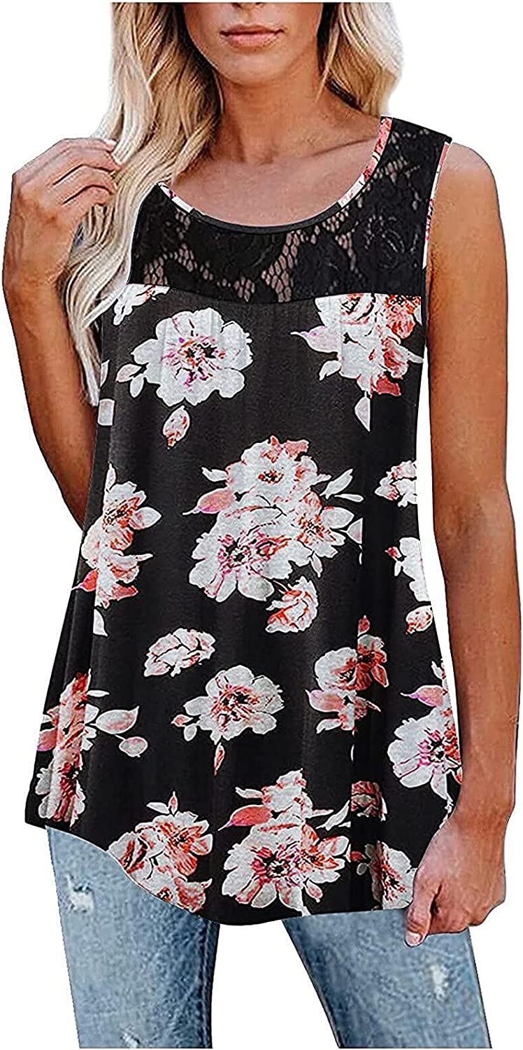 Womens Tank Tops Casual Summer Popular shop is the lowest price challenge S Sleeveless Floral Limited price sale Henley