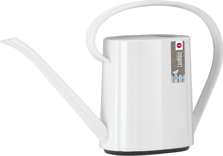 Volumen 1,5 Liter Wei/ß Emsa 514127 Gie/ßkanne Kunststoff Retro-Design Dalia