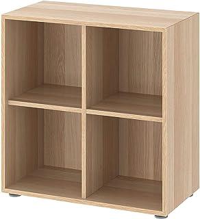 IKEA EKET librería, Mueble con Patas, Efecto Roble con mordida, Blanco, 70 x 35 x 72 cm