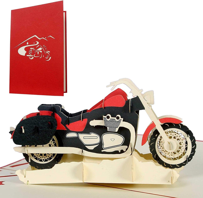 13+ Geburtstagskarte Motorrad, Glückwunschkarte oder Gutschein für ... Stock