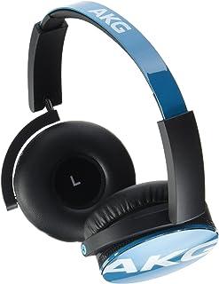AKG Y50 Auriculares supraaurales portátiles y Plegables con Cable Desmontable y Mando de Control/micrófono en-línea, Compatible con Dispositivos iOS de Apple y Android, Color Cerceta