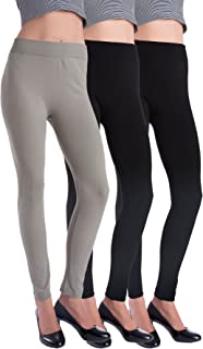 3 Pack Warm Fleece Lined Thick Brushed Leggings Thights