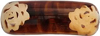 Caravan Tortoise Shell 手绘玫瑰设计法国碰撞自动发夹
