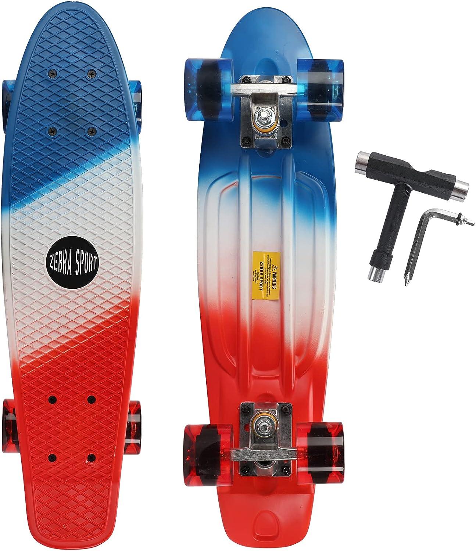 Phoenix Mall ZEBRA Max 64% OFF SPORTS 22 Inch Skateboards Kids Girls Boys Beginners for