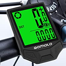 Qomolo Cuentakilómetros para Bicicleta,Muti-Funcion Impermeable Velocímetro Inalámbrico para Bicicleta, Ciclocomputador Ciclismo con Pantalla Grande Retroiluminación LCD,Despertar y Dormir Automáticos