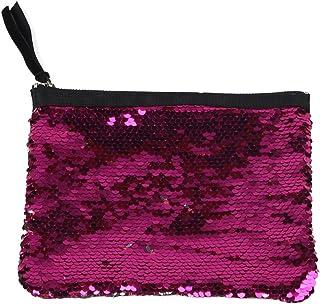 Mwfus Women Girls Reversible Mermaid Glitter Sequins Handbag Zipper Bag Wallet Coin Purse