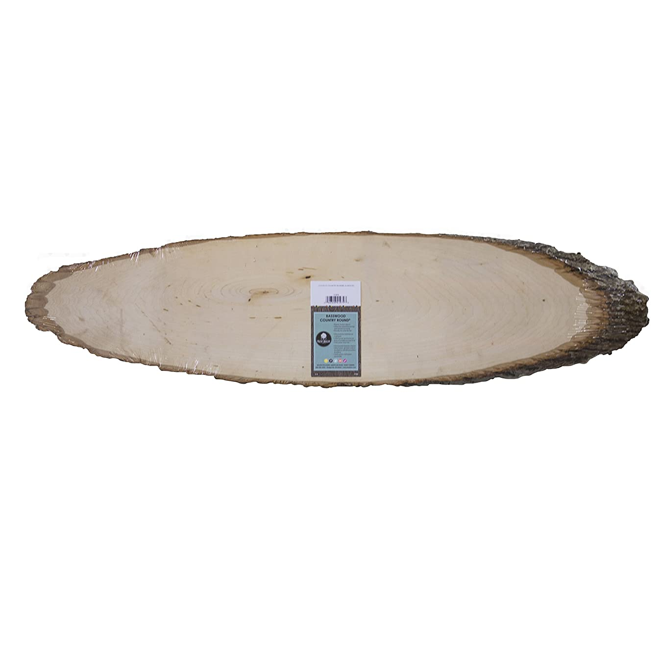 Walnut Hollow Basswood Country Round, Elongated for Signs, Weddings & Home Decorating