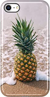 VIVIBIN iPhone 8 Case,a Pineapple on The Beach,oh It's My Summer Time,iPhone 8 Silicone Case Clear Bumper Soft TPU Cover Slim Fit Protective Phone Case for iPhone 8 and iPhone 7 4.7 inch