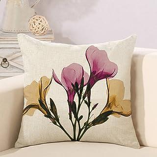 Funda de cojín decorativa con estampado de flores, duradera, para salón, cuatro flores