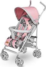 Lionelo Elia Buggy klein zusammenklappbar Kinderwagen, ab 6 Monaten bis 15 kg belastbar, Moskitonetz, Fußdecke, Regenschutz Tropical Pink