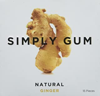 Simply Gum Natural Ginger Chewing Gum, 15 ct