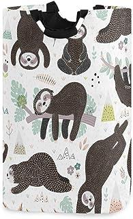 Mignon dormant paresseux panier à linge panier seau dessin animé animal pliable sac à vêtements sale poubelle à laver joue...