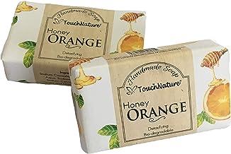Touch Nature Honey Orange Handmade Soap. All Natural. Moisturizing. No SLS and Parabens. (2pc 100gm)