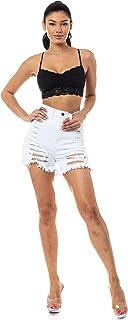 Aphrodite Denim Shorts for Women - Hand Sanding Casual Spring Summer Fashion Short Jeans