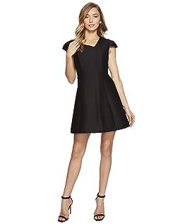 Cap Sleeve V-Neck Silk Faille Dress