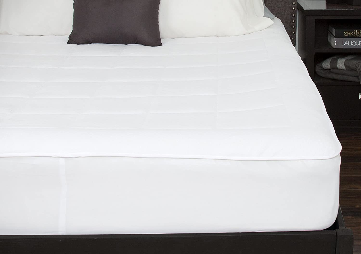 blueestone 64-21-Q Down Alternative Mattress Pad with Fitted Skirt, Queen