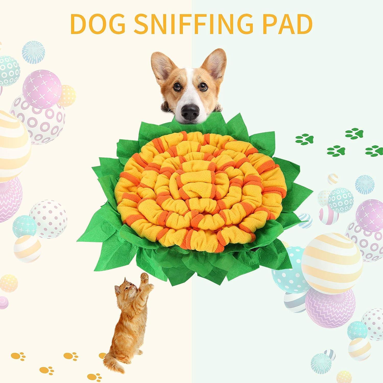 juehu Dog Snuffle Mat Dog Feeding Mat Tappetino olfattivo Cane per Esercizio Mentale Allenamento Relax e Tappetini da Gioco alleviare Lo Stress,con Tre Grandi Ventose Addestramento Mat 50cm/×50cm