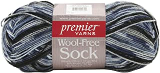 Premier Yarn Wool-Free Sock Yarn, Oceanic, 3 Pack