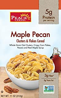 Peace Clusters and Flakes Cereal, Maple Pecan, 11 Ounce (Pack of 6)