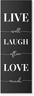 Live Well Laugh Often Love Much Rustic Wood Wall Sign 6x18