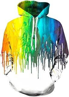 paint drip hoodie women's