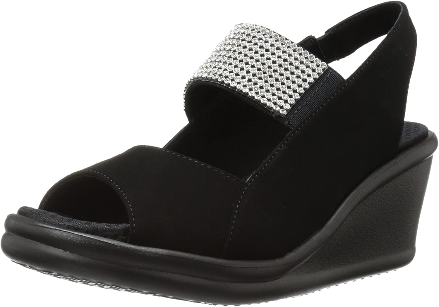 Skechers Womens Rumblers Sparkle on Wedge Sandal