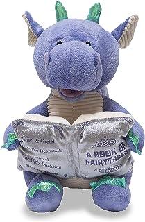 "12"" Dalton the Storytelling Dragon Recites 5 Fairy Tales Light Up Book"