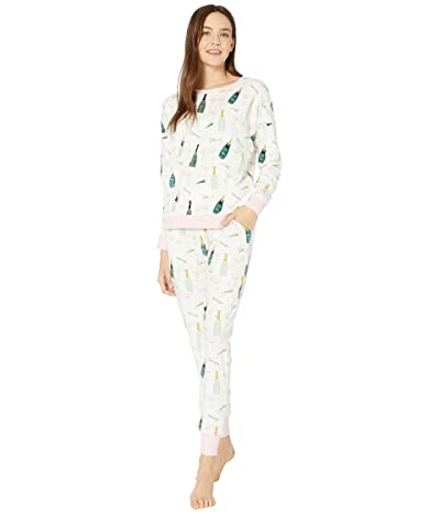 BedHead Pajamas Long Sleeve Pullover Crew Jogger Set (Cheers) Women