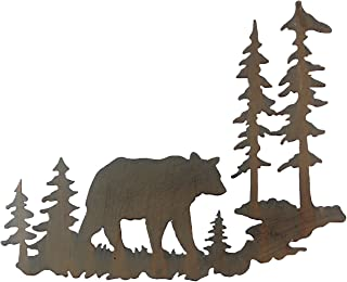 Young's Laser Cut Metal Bear Wall Art, 22-Inch