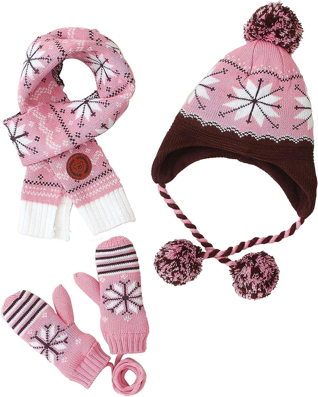 3 Pack/Set Child Hat Scarf Mittens Set Toddler Hats Gloves Scarf Baby Boys Girls Warm Winter Autumn Knitted Hat Mittens