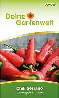Chili Serrano | Chilisamen | Samen für scharfe Chilis | Serranosamen