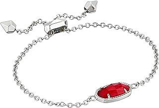 Kendra Scott Elaina Bracelet Rhodium/Berry Illusion One Size