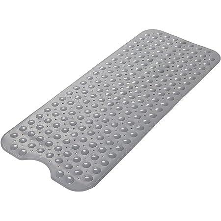 Wimaha Alfombrillas de baño Extra largas - Resistentes al Moho, Antideslizantes, con Ventosa. para Uso en el baño, Lavables a máquina, 100 x 40 cm (Gris)