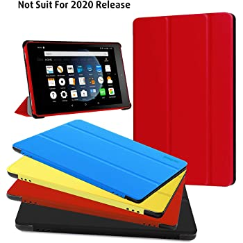 Previous Generation Fire HD 8 Tablet Case -Protective Cover with Auto Wake/Sleep for Fire HD 8 Tablet (7th and 8th Generation, 2017 and 2018 Release) Black, Not Suit for 10th 2020 Release