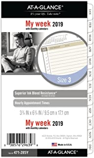 AT-A-GLANCE 2019 Weekly & Monthly Planner Refill, Day Runner, 3-3/4