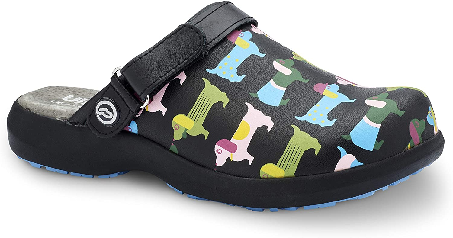 World of Clogs  Toffeln Ultra Lite 0696 - Coloured Dogs