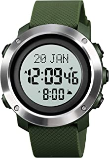 Andoer Muslim Digital Watch for Prayer Compass Hijri Calendar Bookmark City Selection Function Date Week Alarm Backlight 5...