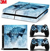 ZOOMHITSKINS PS4 Skin Decal Sticker Winter Coming Custom Design + 2 Controller Skins Set