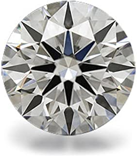 hpfb-jewelry-cz Cubic ZirconiaL8MMR TOP GRADE 2 CARAT 8MM ROUND LOOSE RUSSIAN SIMULATED DIAMOND IDEAL HEARTS AND ARROWS CUT